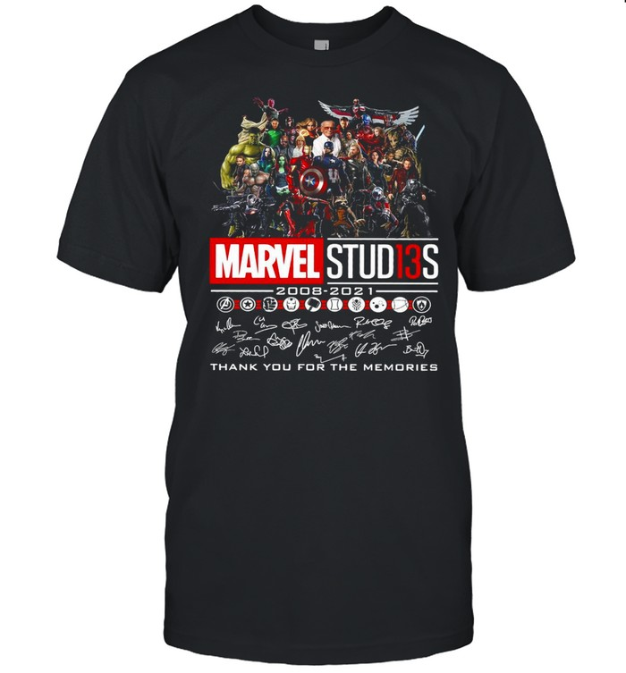 Avengers Marvel Studios 2008 2021 Signature Thank You For The Memories Shirt