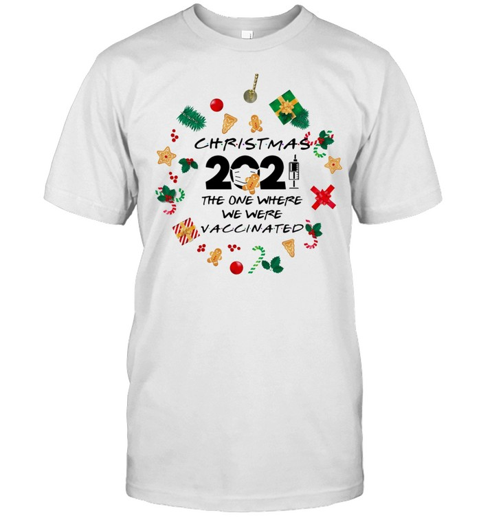 Friends 2021 Christmas Ornament The One Where We Were Vaccinated Pandemic Holiday Christmas Ornament Shirt