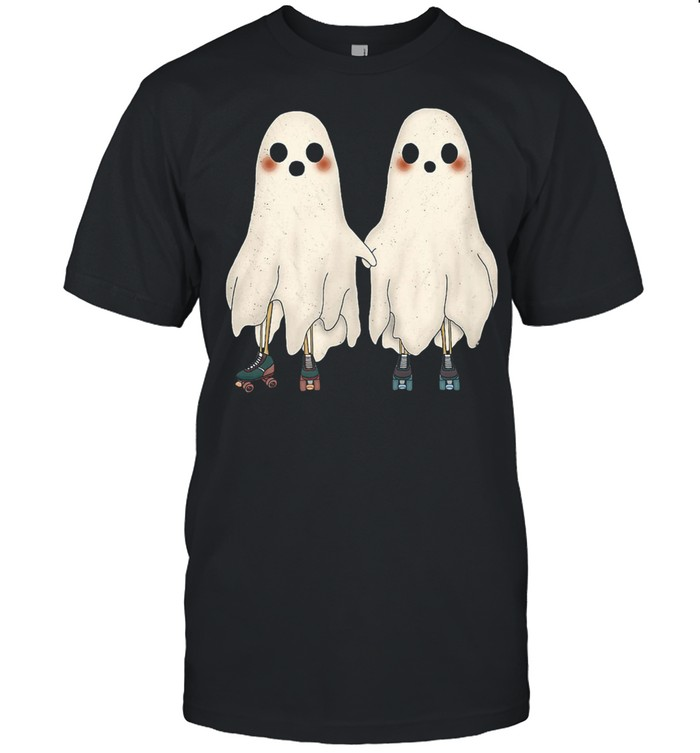 Spooky Ghost Cute Roller-Skating Ghost Couple Shirt