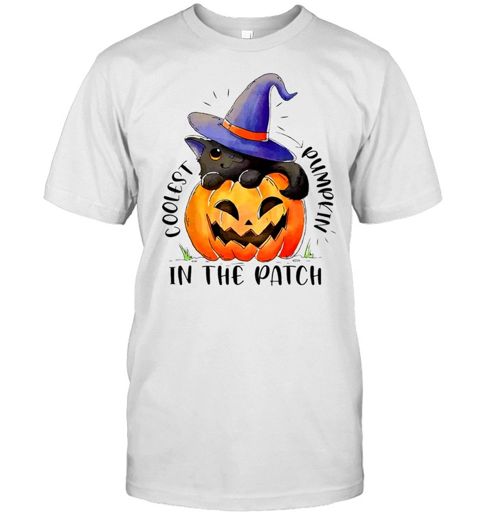 Coolest Cat Witch Pumpkin In The Patch Shirt