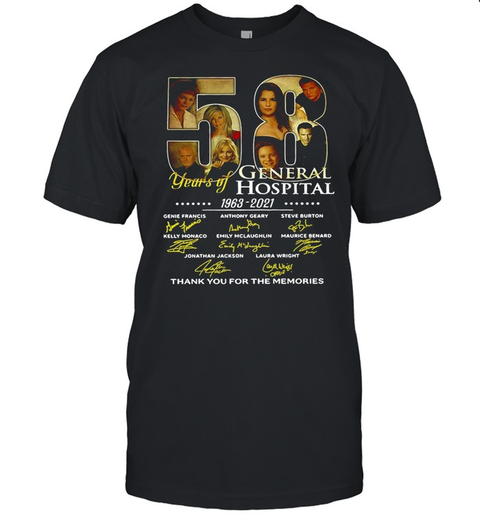 Thank You For The Memories 58 Years Of General Hospital 1963-2021 Signature Shirt