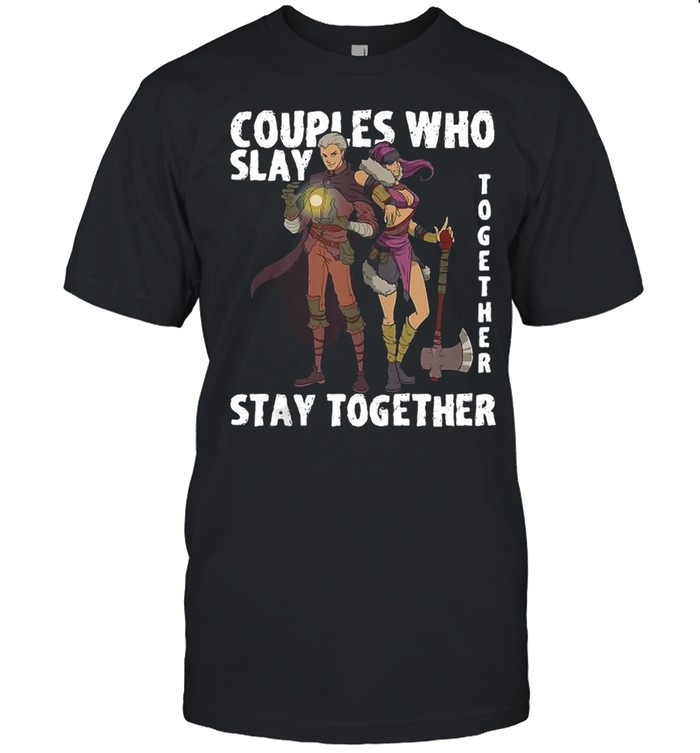 Roleplaying Rpg Couple Gift Valentines Day Wizard Barbarian Shirt