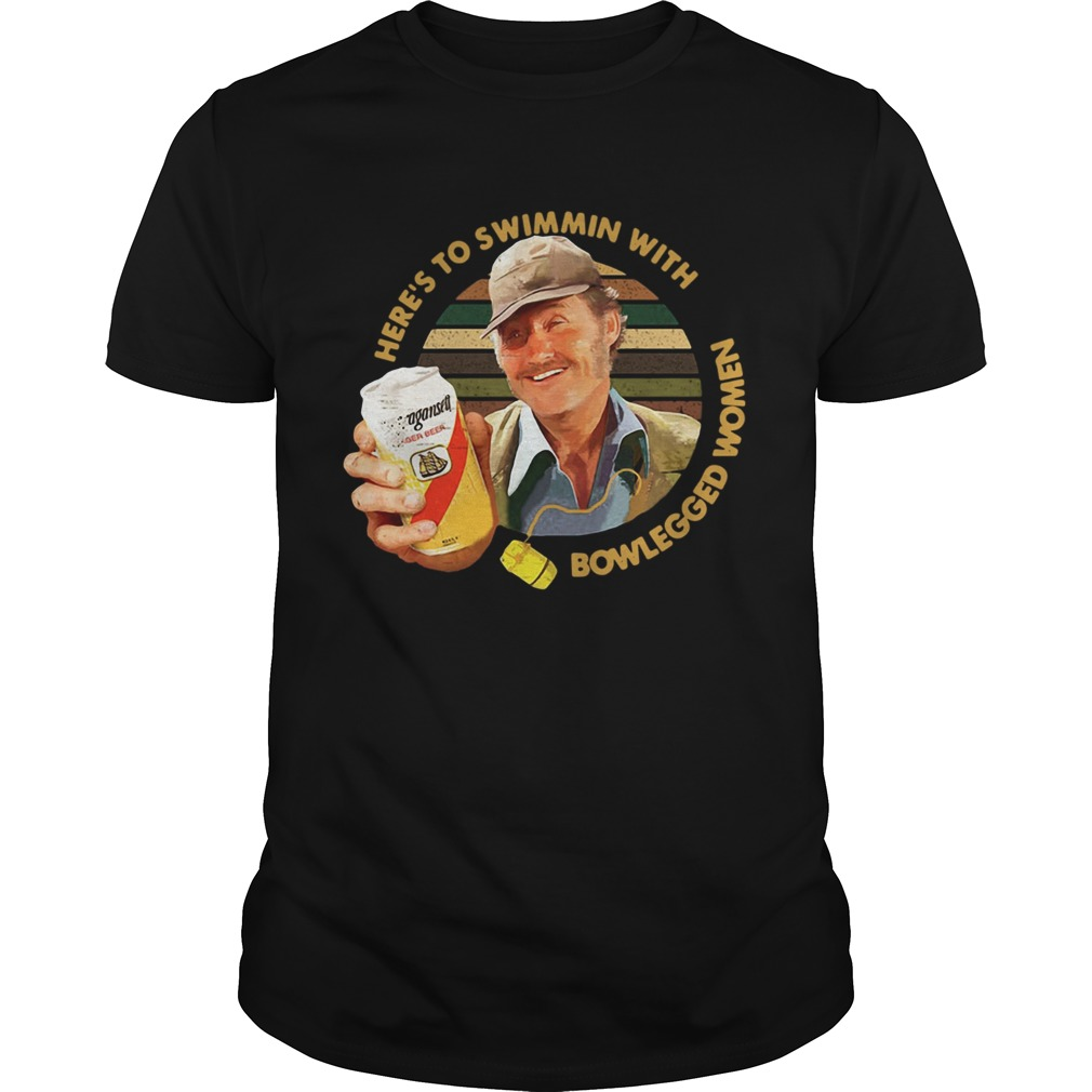 Quint Jaws Here's To Swimmin With Bowlegged Women Shirt